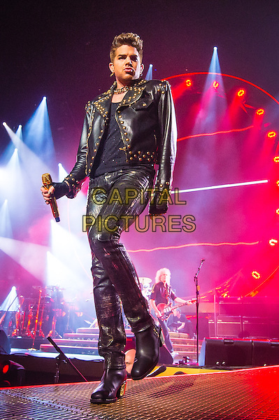 AUBURN HILLS, MI - JULY 12: Queen with Adam Lambert performs at The Palace Of Auburn Hills on July 12, 2014 in Auburn Hills, Michigan. <br /> CAP/MPI/RTNSCH<br /> &copy;RTNSCH/MPI/Capital Pictures