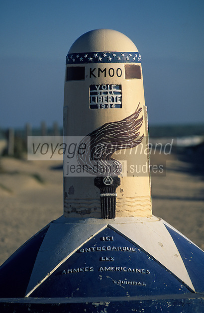 Europe/France/Normandie/Basse-Normandie/50/Manche/Utah-Beach: Borne du débarquement allié du 6 juin 1944