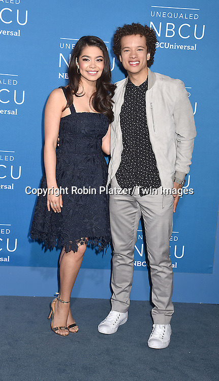Auli'l Cravalho and Damon J Gillespie of &quot;Rise&quot; attend the NBCUNIVERSAL 2017 UPFRONT on May 15, 2017 at Radio City Music Hall in New York, New York, USA.<br /> <br /> photo by Robin Platzer/Twin Images<br />  <br /> phone number 212-935-0770