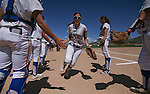 Meghan Hospodka takes the field for the Western Nevada Wildcats in a college softball game at Edmonds Sports Complex, in Carson City, Nev., on Friday, April 18, 2014.<br /> Photo by Cathleen Allison/Nevada Photo Source