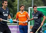DEN HAAG - Bjorn Kellerman tijdens  de trainingswedstrijd hockey Nederland-Argentinie (1-2). COPYRIGHT KOEN SUYK