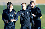 St Johnstone Training…28.12.18    McDiarmid Park<br />Liam Craig and Tony Watt pull on the shirt of youngster Ali McCann during a print race in training this morning ahead of tomorrow's game at Dundee.<br />Picture by Graeme Hart.<br />Copyright Perthshire Picture Agency<br />Tel: 01738 623350  Mobile: 07990 594431