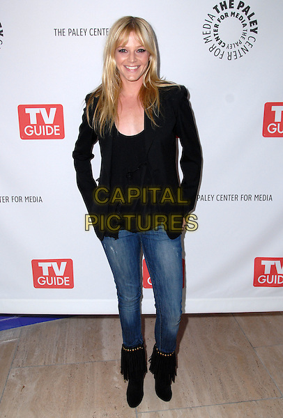 MOLLY STANTON.Fox Fall 2008 preview, held The Paley Center For Media, Beverly Hills, California, USA..September 5th, 2008.full length jeans denim black jacket top boots .CAP/ADM/FS.©Faye Sadou/AdMedia/Capital Pictures.