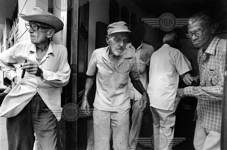 The revolution's generation. Old age pensioners in Havana..