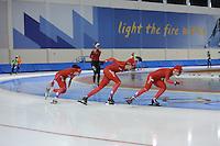 SCHAATSEN: SALT LAKE CITY: Utah Olympic Oval, 12-11-2013, Essent ISU World Cup, training, Mayon Kuipers, Margot Boer, Thijsje Oenema, ©foto Martin de Jong