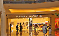 Harvey Nichols store at the Mall of the Emirates. Dubai. United Arab Emirates.