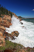 Storm Waves Crash along Acadia Coast  #A46