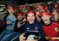 Lions fans during the 2017 DHL Lions Series rugby union 3rd test match between the NZ All Blacks and British & Irish Lions at Eden Park in Auckland, New Zealand on Saturday, 8 July 2017. Photo: Dave Lintott / lintottphoto.co.nz