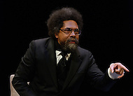January 12, 2012  (Washington, DC)  Dr. Cornell West speaks during the Remaking America panel discussion at the George Washington University Lisner Auditorium in Washington.  Radio and television talk show host Tavis Smiley moderated the discussion on restoring America's prosperity.  (Photo by Don Baxter/Media Images International)