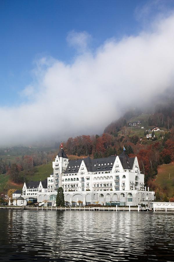 Park Hotel Vitznau on shore of Lake Lucerne, Switzerland, Europe