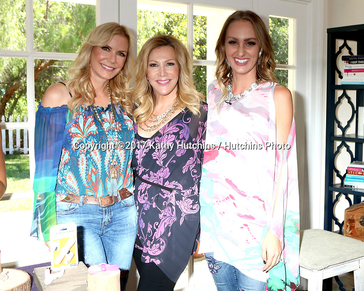 "LOS ANGELES - APR 14:  Katherine Kelly Lang, Kym Douglas, Model at the ""Home and Family"" Celebrates ""Bold and Beautiful's"" 30 Years at Universal Studios Back Lot on April 14, 2017 in Los Angeles, CA"