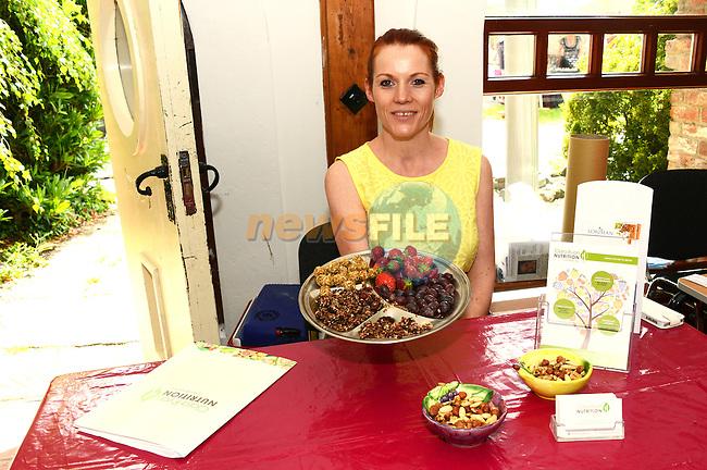 Nutritionist Ciara Ryan from Mornington at the mid summer solstice fair at Sonairte. www.newsfile.ie