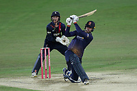 Paul Walter hits 6 runs for Essex as Sam Billings looks on from behind the stumps during Kent Spitfires vs Essex Eagles, Vitality Blast T20 Cricket at the St Lawrence Ground on 2nd August 2018