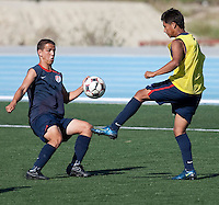 Luis Gil and Dustin Corea training. 2009 CONCACAF Under-17 Championship From April 21-May 2 in Tijuana, Mexico