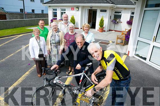 Launching the Castleisland day care Cycle were Picture front lr Eamonn Breen, Fred O'Dwyer back lr Kate Mcauliffe, Liam Murphy. Mary O'Connell. Garret McCarthy Pat Kerins, Rita McCarthy