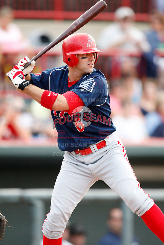 August 1, 2009:  Left Fielder Michael Spidale of the Reading Phillies during a game at Jerry Uht Park in Erie, PA.  Reading is the Eastern League Double-A affiliate of the Philadelphia Phillies.  Photo By Mike Janes/Four Seam Images