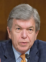 """United States Senator Roy Blunt (Republican of Missouri), questions the witnesses during the US Senate Select Committee on Intelligence open hearing titled """"Disinformation: A Primer in Russian Active Measures and Influence Campaigns"""" on Capitol Hill in Washington, DC on Thursday, March 30, 2017. Photo Credit: Ron Sachs/CNP/AdMedia"""