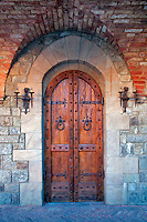 Castle door at Castello di Amorosa. Napa Valley, California. Property relased.