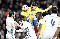 Real Madrid's Gareth Bale (l) and Nacho Fernandez (c) and UD Las Palmas' Vicente Gomez during La Liga match. March 1,2017. (ALTERPHOTOS/Acero) /NortePhoto.com