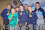 Members of the U14 Asdee Soccer team who received their medals for winning division 1 of the Kerry School boys/girls league, pictured here last Saturday afternoon at the local club house, l-r: Ryan Henry, Conor Carthy, Lee Fitzell, John Horgan, Peter McMahon, Niall Dowd and David Ellis.