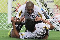RIO DE JANEIRO, 27.04.2014 - Emerson e Zeballos do Botafogo comemoram o gol do empate do time carioca, no jogo contra Internacional disputado neste domingo no Maracanã. (Foto: Néstor J. Beremblum / Brazil Photo Press)