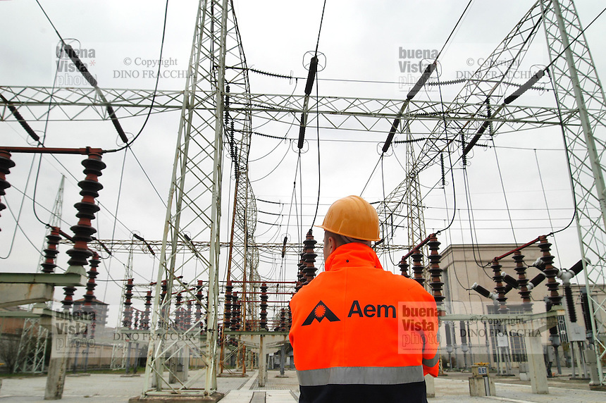 - AEM (Energetic Company of Milan), electric receiver power station of Milan South....- AEM (Azienda Energetica Milanese), centrale elettrica ricevitrice di  Milano Sud..