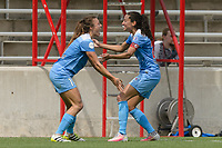 Bridgeview, IL - Sunday June 04, 2017: Sofia Huerta, Christen Press during a regular season National Women's Soccer League (NWSL) match between the Chicago Red Stars and the Seattle Reign FC at Toyota Park. The Red Stars won 1-0.