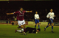 06/12/2003 - Photo  Peter Spurrier.FA Cup 2nd Rd - Northampton v Weston S Mare.Marc Richards celebartes afterscoring his first goal after coming on as a second half substitute.