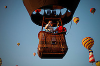 Readington, USA. 25 July 2014. Hightlights from the 32nd annual QuickChek New Jersey Festival of Ballooning on July 25, 2014 in Readington, New Jersey. Photo by Kena/VIEWpress