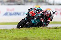 2nd November 2019; Sepang Circuit, Sepang Malaysia; MotoGP Malaysia, Qualifying Day;  The number 20 Petronas Yamaha SRT rider Fabio Quartararo during practice 3 - Editorial Use