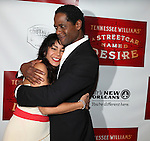 Daphne Rubin-Vega and Blair Underwood.attending the Broadway Opening Night After Party for 'A Streetcar Named Desire' on 4/22/2012 at the Copacabana in New York City.