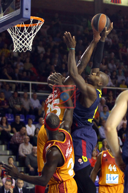 Euroleague Basketball-Playoffs Game: 1.<br /> FC Barcelona vs Galatasaray Liv Hospital Istanbul: 88-61.<br /> Erwin Dudley vs Joey Dorsey.