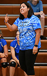 Columbia coach Elysia Sepich. Althoff defeated Columbia in two games in volleyball action on Thursday August 23, 2018.<br /> Tim Vizer/Special to STLhighschoolsports.com