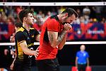 14.09.2019, Paleis 12, BrŸssel / Bruessel<br />Volleyball, Europameisterschaft, Deutschland (GER) vs. Belgien (BEL)<br /><br />Julian Zenger (#10 GER), Georg Grozer (#9 GER) enttŠuscht / enttaeuscht / traurig <br /><br />  Foto © nordphoto / Kurth