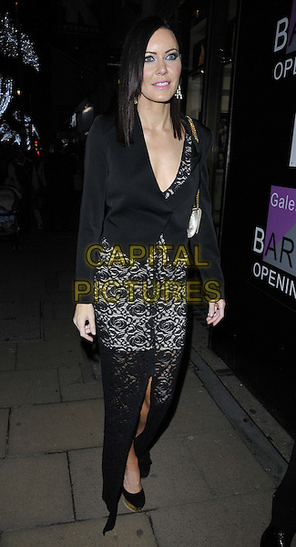 LONDON, ENGLAND - NOVEMBER 27: Linzi Stoppard attends the &quot;Mikhail Baryshnikov: Dancing Away&quot; photography collection private view, Contini Art UK, New Bond St., on Thursday November 27, 2014 in London, England, UK. <br /> CAP/CAN<br /> &copy;Can Nguyen/Capital Pictures