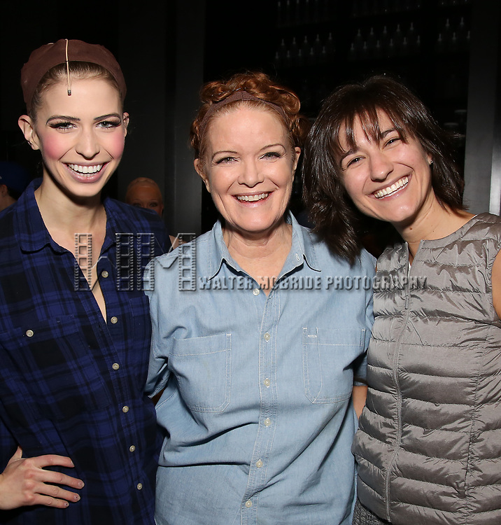 Broadway debuts: Mary Claire King, Mary Ernster and Barbara Jo Bednarczuk during the Actors' Equity Gypsy Robe honoring Joanna Glushak for 'War Paint' at the Nederlander Theatre on April 6, 2017 in New York City