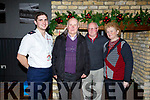 Enjoying the Red Cross Senior Citizens party in the Ashe Hotel on Sunday.  <br /> L-r, Cormac Sertutxa (Tralee Red Cross), Gerard Hickey, Moss Murphy and Mary Griffin.