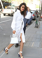 NEW YORK, NY - MAY 3: Priyanka Chopra spotted arriving at 'The View' in New York, New York on May 3, 2018.  Photo Credit: Rainmaker Photo/MediaPunch