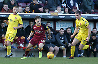 Fleetwood Town's Nathan Sheron chases down Bradford City's David Ball<br /> <br /> Photographer David Shipman/CameraSport<br /> <br /> The EFL Sky Bet League One - Bradford City v Fleetwood Town - Saturday 9th February 2019 - Valley Parade - Bradford<br /> <br /> World Copyright &copy; 2019 CameraSport. All rights reserved. 43 Linden Ave. Countesthorpe. Leicester. England. LE8 5PG - Tel: +44 (0) 116 277 4147 - admin@camerasport.com - www.camerasport.com