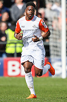 Pelly Ruddock of Luton Town during the Sky Bet League 2 match between Barnet and Luton Town at The Hive, London, England on 28 March 2016. Photo by David Horn.