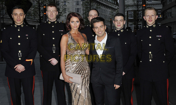 LONDON, ENGLAND - APRIL 05: Amy Childs &amp; Joe McElderry attend the Soldiering On Awards 2014, Park Plaza Westminster Bridge Hotel, Westminster Bridge, on Saturday April 05, 2014 in London, England, UK.<br /> CAP/CAN<br /> &copy;Can Nguyen/Capital Pictures