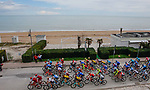 The start of Stage 6 of the 53rd edition of the Tirreno-Adriatico 2018 running 153km from Numana to Fano, Italy. 12th March 2018.<br /> Picture: LaPresse/Spada | Cyclefile<br /> <br /> <br /> All photos usage must carry mandatory copyright credit (&copy; Cyclefile | LaPresse/Spada)