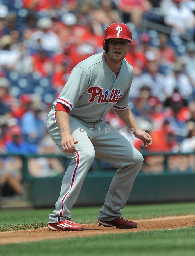 Philadelphia Phillies Cody Asche (25) during a game against the Washington Nationals on June 11, 2016 at Nationals Park in Washington, DC. The Nationals beat the Phillies 8-0.