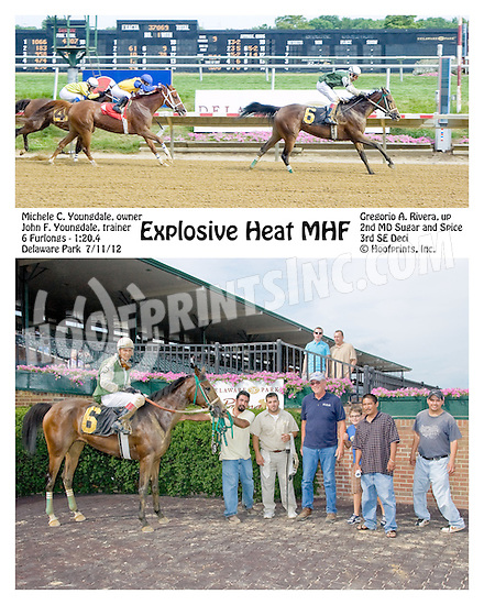 Explosive Heat MHF winning at Delaware Park on 7/11/12