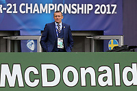 England Under21 manager Aidy Boothroyd during Sweden Under-21 vs England Under-21, UEFA European Under-21 Championship Football at The Kolporter Arena on 16th June 2017