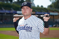 Pulaski Yankees infielder Spencer Henson (72) poses for a photo prior to the game against the Danville Braves at Calfee Park on June 30, 2019 in Pulaski, Virginia. The Braves defeated the Yankees 8-5 in 10 innings.  (Brian Westerholt/Four Seam Images)