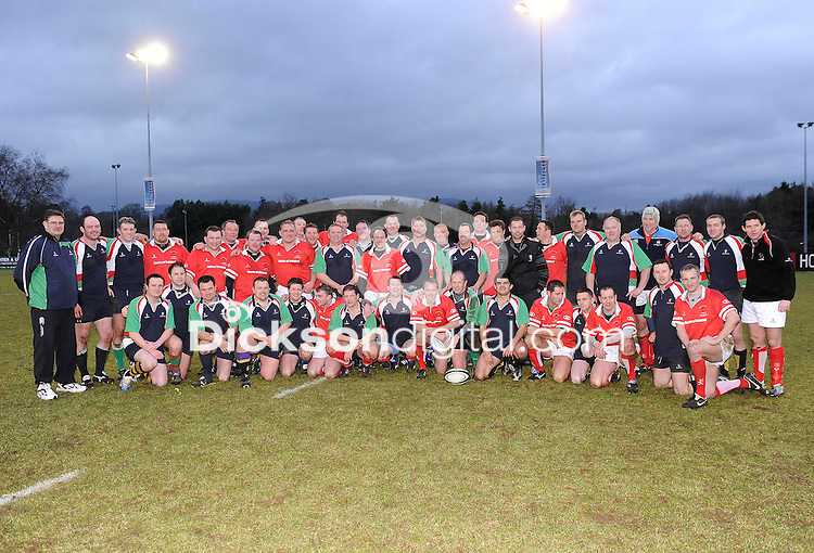 Ulster 1999 XV and the Wooden Spoon XV after the charity match between the Ulster 1999 XV and a Wooden Spoon Select XV at Shaw's Bridge Belfast.  Mandatory Credit - Photo : Oliver McVeigh