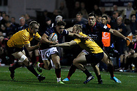 during the Championship Cup match between London Scottish Football Club and Yorkshire Carnegie at Richmond Athletic Ground, Richmond, United Kingdom on 4 October 2019. Photo by Carlton Myrie / PRiME Media Images