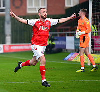 Fleetwood Town's Paddy Madden celebrates scoring his side's first goal <br /> <br /> Photographer Richard Martin-Roberts/CameraSport<br /> <br /> The EFL Sky Bet League One - Fleetwood Town v Doncaster Rovers - Wednesday 26th December 2018 - Highbury Stadium - Fleetwood<br /> <br /> World Copyright &not;&copy; 2018 CameraSport. All rights reserved. 43 Linden Ave. Countesthorpe. Leicester. England. LE8 5PG - Tel: +44 (0) 116 277 4147 - admin@camerasport.com - www.camerasport.com