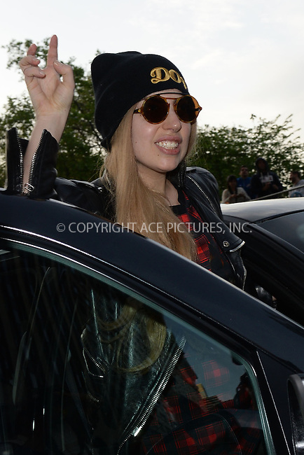 WWW.ACEPIXS.COM<br /> May 13, 2014 New York City<br /> <br /> Lady Gaga heads to Madison Square Garden on May 13, 2014 in New York City.<br /> <br /> Please byline: Kristin Callahan<br /> <br /> ACEPIXS.COM<br /> <br /> Tel: (212) 243 8787 or (646) 769 0430<br /> e-mail: info@acepixs.com<br /> web: http://www.acepixs.com